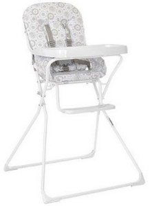 Cadeira de Alimentação Bambini (até 15 kg) - Branco - Tutti Baby