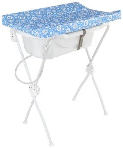 Banheira Com Trocador Floripa Azul (Até 10 Kg) - Tutti Baby