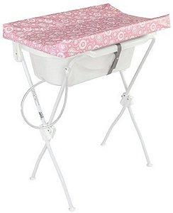 Banheira com Trocador Floripa (até 10 kg) - Rosa - Tutti Baby