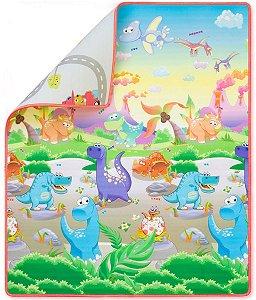 Tapete de Atividades Dupla Face (+0M) - Reino dos Dinossauros - Comtac Kids