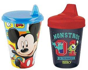 Conjunto Copo Aprendizado Mickey e Monstros S.A - Lillo