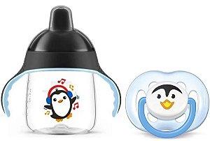 Conjunto de Copo e Chupeta de Pinguim (+6M) - Philips Avent