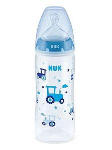 Mamadeira First Choice com Controle de Temperatura 360ml Tam.2 (+6M) - Azul - NUK