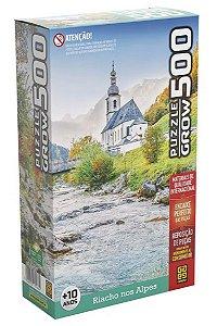 Quebra Cabeça Riacho Nos Alpes - 500 Peças - Grow