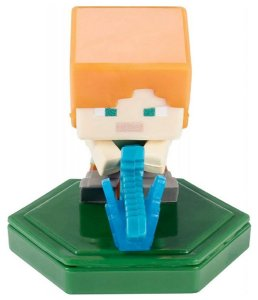 Mini-Figura - Alex ao Ataque - Minecraft Earth - Mattel