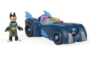 Brinquedo Imaginext Jovens Titans Robin Batmovel - Mattel