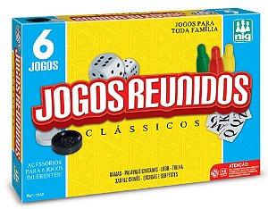 Jogos de Tabuleiro Reunidos 6 em 1 (+6 anos) - NIG Brinquedos