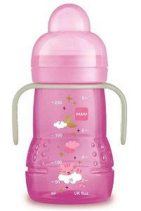 Copo De Transição Trainer Night 220 ml (+4 Meses) Rosa - MAM