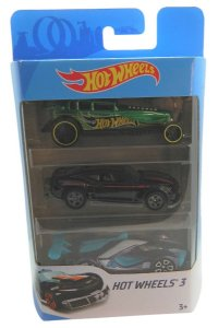 Conjunto 3 Carros Hot Wheels 4 - Mattel