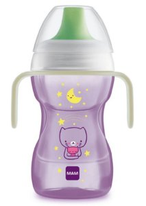 Copo Fun To Drink Night 270ml Gatinho Roxo - MAM