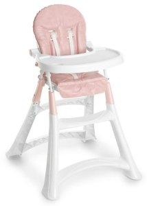 Cadeira De Refeição Alta Premium Rosa - Galzerano