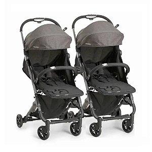 Carrinho de Bebê para Gemêos Duolee (até 15 kg) - Preto - Galzerano