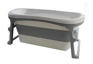 Banheira Dobrável Adulto Cinza (Até 135 litros) - Kababy
