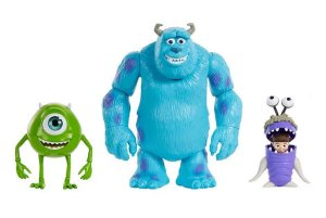 Conjunto de Bonecos Articuláveis (+3 anos) - Monstros S.A. - Disney - Mattel