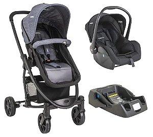 Travel System Prima com Carrinho Bebê Conforto e Base -Kiddo