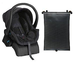 Conjunto Bebê Conforto Cocoon Preto e Base E Protetor Solar
