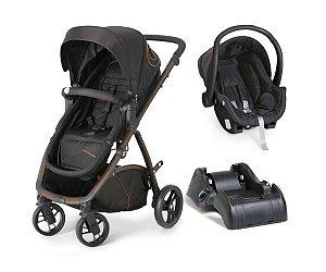 Carrinho De Bebê Maly Bebê Conforto e Base - Black - Dzieco