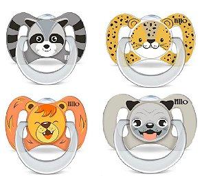Chupeta Funny C/ 4 Unidades Animais - Lillo