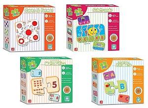 Conjunto de Jogos Educativos de Encaixar (+3 anos) - NIG Brinquedos