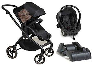Carrinho de Bebê Travel System Rovy com Base (até 15 kg) - Preto - Dzieco