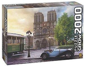 Quebra Cabeça Catedral Notre-Dame 2000 Peças - Grow