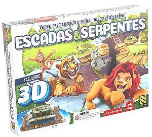 Jogo 3D Escadas e Serpentes (+5 anos) - Grow