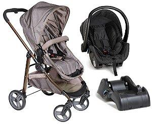 Carrinho de Bebê Travel System Olympus com Base (até 15 kg) - Cappuccino - Galzerano