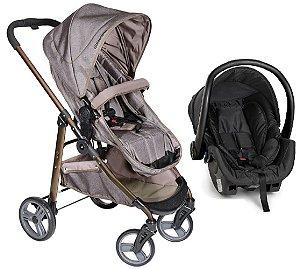 Carrinho de Bebê Travel System Olympus (até 15 kg) - Cappuccino - Galzerano
