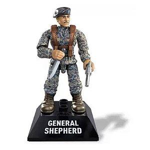 Boneco de Ação Mega Construx - General Shepherd - Call Of Duty - Mattel