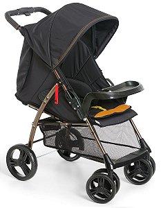Carrinho de Bebê San Remo (até 15 kg) - Preto - Galzerano