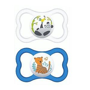 2 Un. Chupeta Air Tam.2 (+6M) - Panda e Tigre - MAM