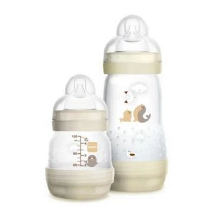 Conjunto de Mamadeiras Easy Start 130ml e 260ml (+0M) - Neutra - MAM