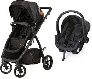 Carrinho De Bebê Maly Bebê Conforto Black - Dzieco
