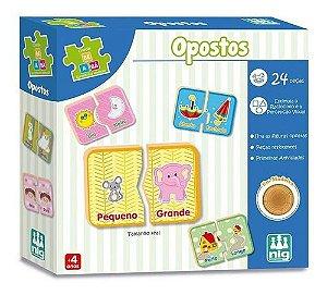 Jogo Educativo de Encaixar (+3 anos) - Opostos - NIG Brinquedos