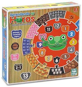 Jogo Educativo Aprendendo as Horas (3 anos+) NIG Brinquedos