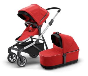 Carrinho De Bebê Sleek Com Bassinet Energy Red - Thule