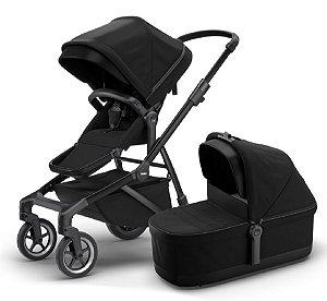 Carrinho De Bebê Sleek Com Bassinet Black (0 à 15Kg) - Thule