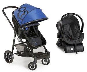 Carrinho de Bebê Travel System Gero com Base (até 15 kg) - Azul - Galzerano