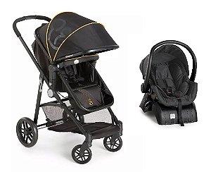 Carrinho de Bebê Travel System Gero com Base (até 15 kg) - Preto - Galzerano