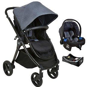 Carrinho de Bebê Travel System Soul com Base (até 15 kg) - Black Mixed - Burigotto