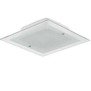 Blumenau - Plafon Plana Flex Quad. 30cm 2xE27 Ac. Croma Branco