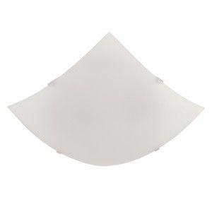 Plafon de Sobrepor Vidro Quadrado 30cm Blumenau Branco