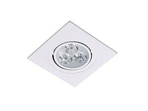 Spot Easy Led Embutir Redondo 9,3x9,3cm 3w 6,4k