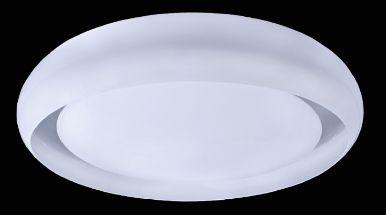 Plafon Redondo 41cm Luz Indireta Branco