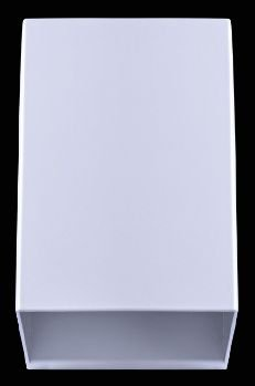 Arandela Quadrada 12x8cm Branca sem Vidro