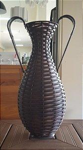 Vaso Urna de Junco com Alça  Pequeno