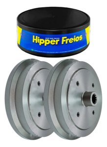 TAMBOR FREIO TRASEIRO 229MM 4 FUROS C/ CUBO - HF04 HIPPER FREIOS