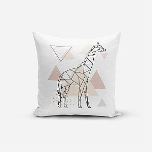 Capa de Almofada Avulsa Yuzo 45x45cm Girafa Abstrato