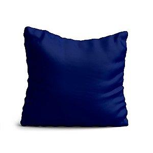 Almofada Yuzo Avulsa 45x45cm Azul Escuro Lisa