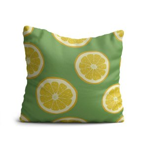 Almofada Yuzo Avulsa 45x45cm Fruta Limão